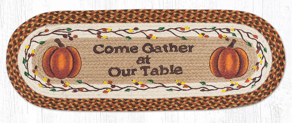 TR-222 Come Gather At Our Table Oval Table Runner