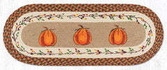 TR-222 Harvest Pumpkin Oval Table Runner