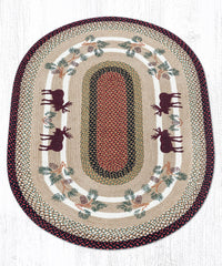 OP-019 Moose Pinecone Oval Rug