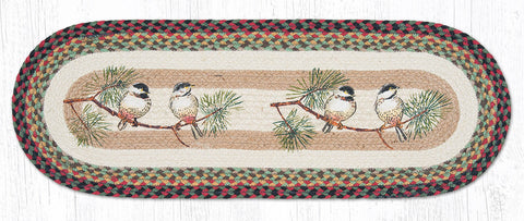TR-081 Chickadee Oval Table Runner