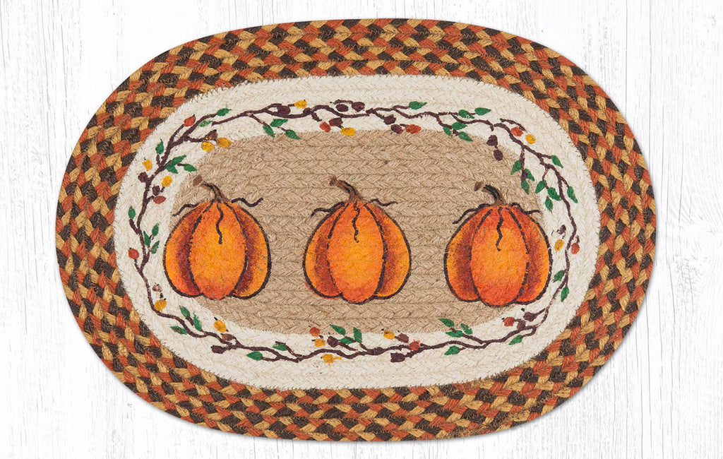 "PM-OP-222 Harvest Pumpkin Placemat 13""x19"""