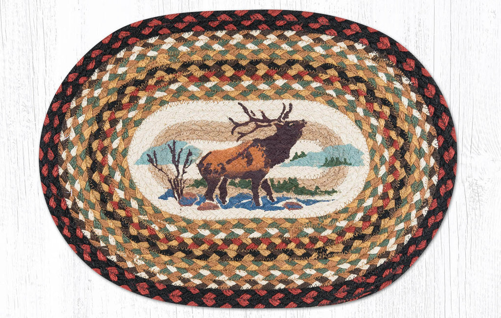 "PM-OP-319 Winter Elk Placemat 13""x19"""