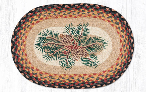 PM-OP-083 Pinecone Red Berry Placemat 13