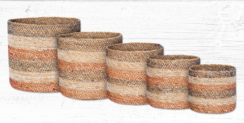 SGB-002 Honeycomb Sedge Grass Baskets