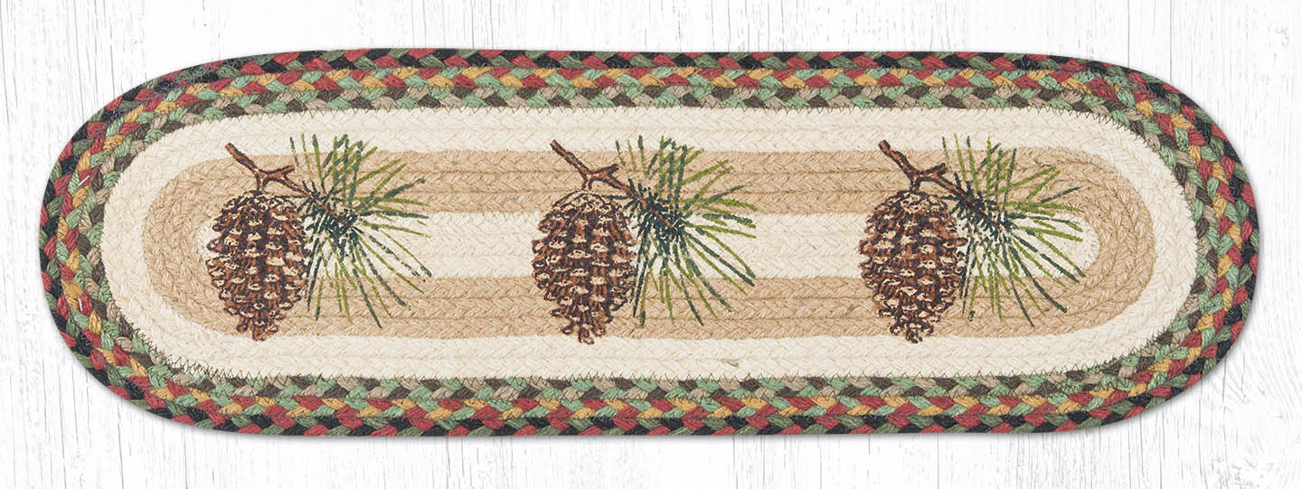 St Op 081 Pinecone Stair Tread The Braided Rug Place
