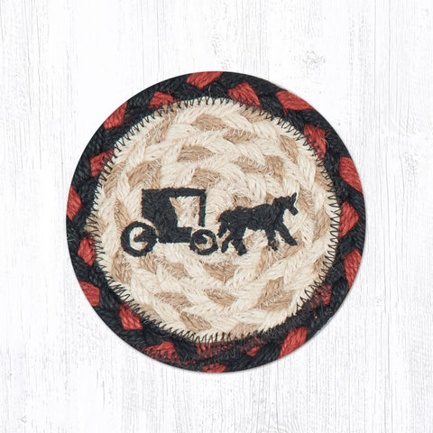 IC-019 Amish Buggy Individual Coaster