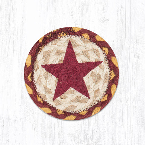 IC-357 Burgundy Star Individual Coaster