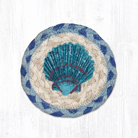 IC-378 Blue Scallop Individual Coaster