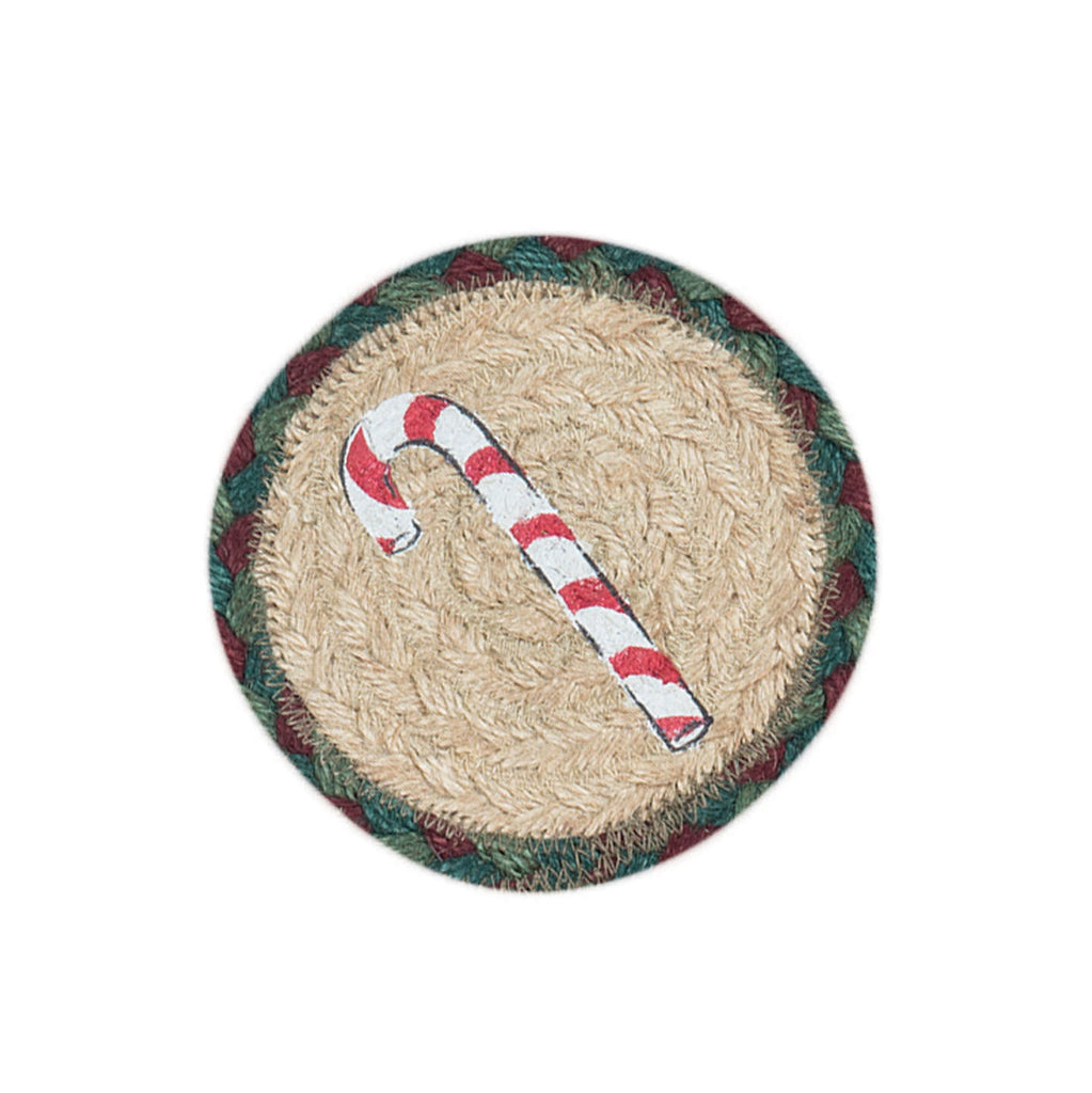 IC-508 Candy Cane Individual Coaster