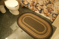 C-116 Black, Mustard and Cream Braided Rug