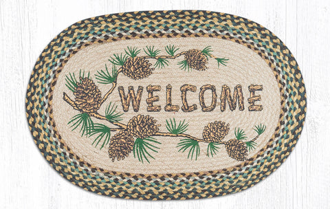 OP-051 Welcome Patch Oval Rug