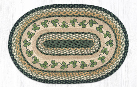 OP-116 Irish Shamrock Oval Rug