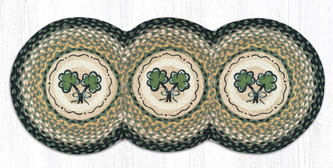 TCP-116 Shamrock Tri Circle Table Runner
