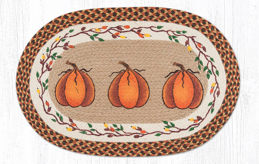 OP-222 Harvest Pumpkin Oval Rug