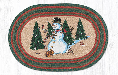 OP-246 Winter Wonderland Oval Rug