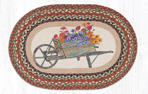 OP-300 Wheelbarrow Oval Rug