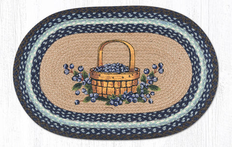 OP-312 Blueberry Basket Oval Rug