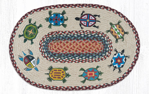 OP-332 Turtles Oval Rug