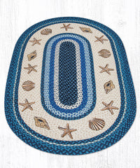 OP-362 Sea Shells Oval Rug