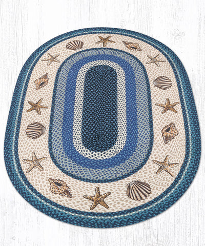 OP-362 Sea Shells Oval Rug 4'x6' Oval