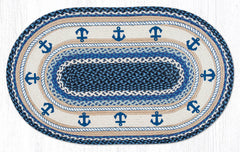 OP-443 Anchor Oval Rug