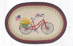 OP-574 Bicycle With Flag Oval Rug