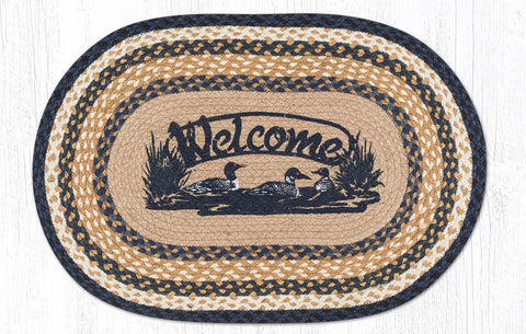 OP-079 Welcome Loons Oval Rug