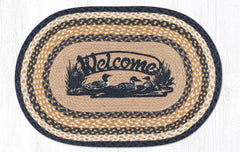OP-079 Welcome Loons Oval Rug 20x30