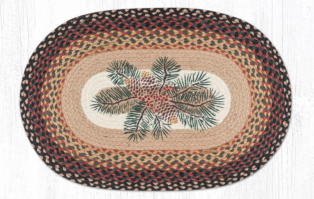 OP-083 Pinecone Red Berry Oval Rug