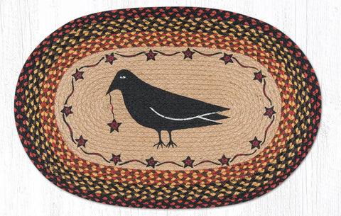 OP-919 Crow & Star Oval Rug
