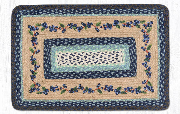 Pp 312 Blueberry Vine Print Patch Rug The Braided Rug Place