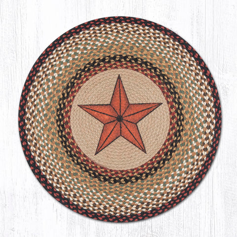 RP-019 Barn Star Round Patch Rug