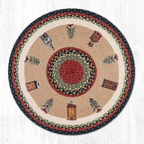 RP-338 Winter Village Round Rug