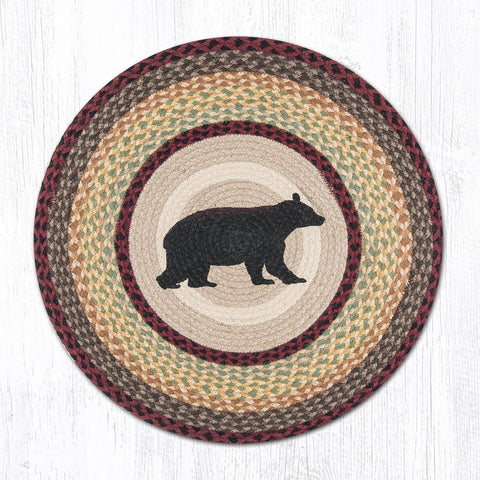 RP-395 Cabin Bear Round Patch Rug