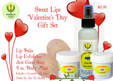 """Sweet Lips"" Valentine's Day Gift Kit"