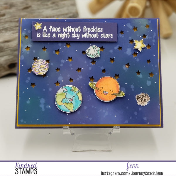 Fun and Easy Outer Space Light Up Card
