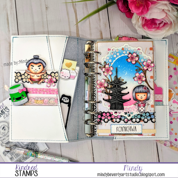 Travel to Japan Planner Dashboard and Washi Holder