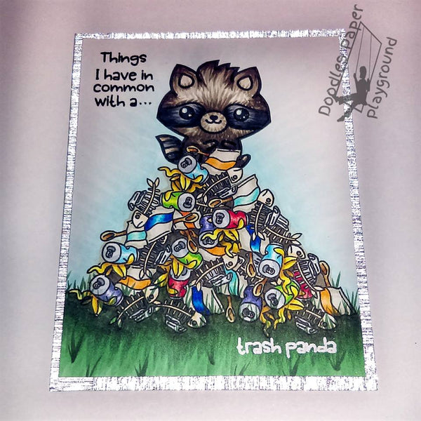 A Big Pile of Garbage & a Trash Panda