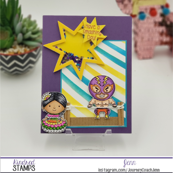 Travel the World - Travel to Mexico Shaker Card