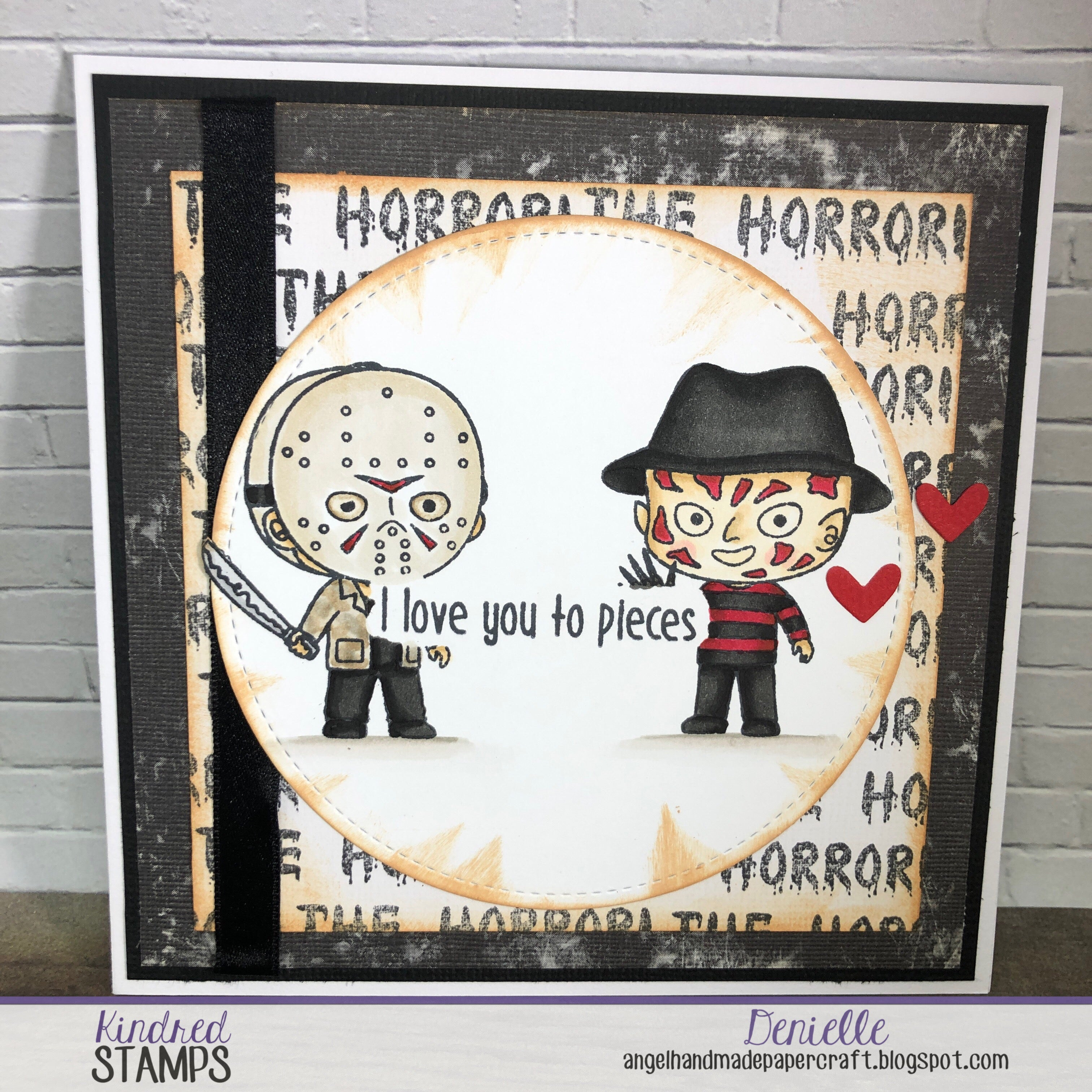 The Horror and creating your own background paper with VDT Deni