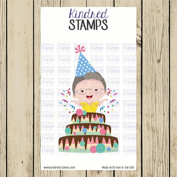 Kindred Birthday Digital Stamp