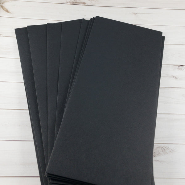 Black Slimline Envelopes