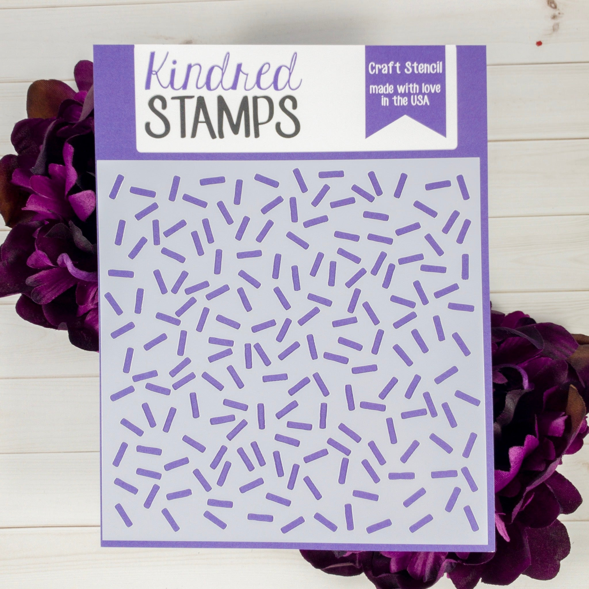 Kindred Stamps Sprinkles Stencil