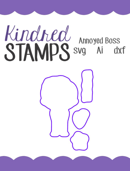 Annoyed Boss Cut Files - SVG - AI - dxf