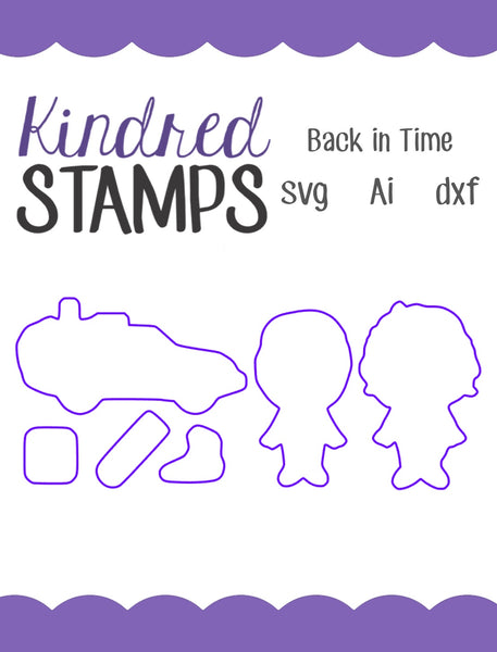 Back in Time Cut Files - SVG - AI - dxf