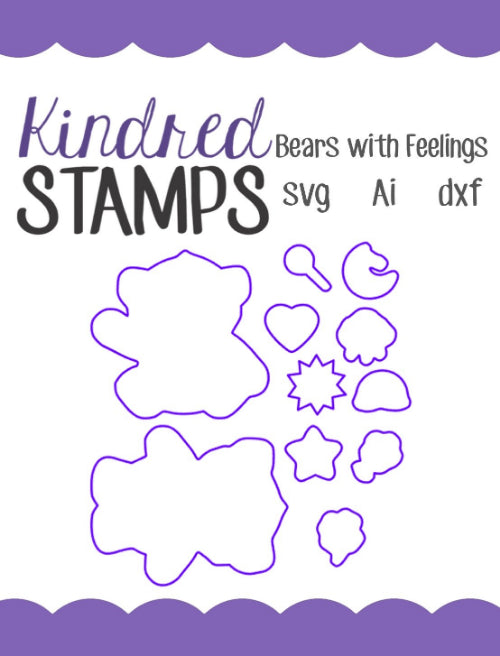 Bears with Feelings Cut Files - SVG - AI - dxf