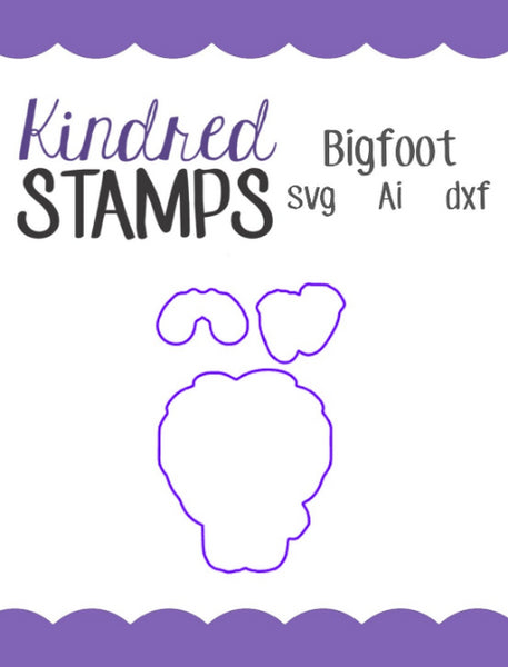 Bigfoot Cut Files - SVG - AI - dxf