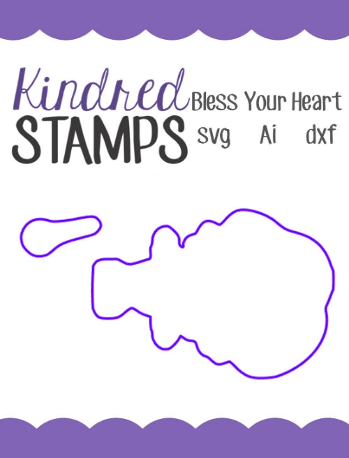 Bless your Heart Cut Files - SVG - AI - dxf