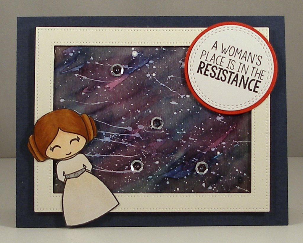 BACK ORDER 4x6 Galactic Adventures Clear Stamp Set