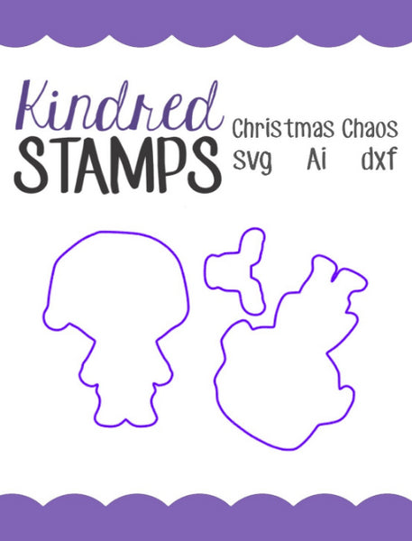 Christmas Chaos Cut Files - SVG - AI - dxf